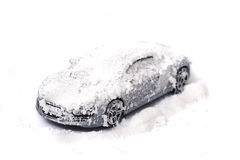Car in the snow royalty free stock images
