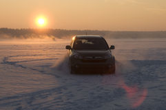 Car on snow Stock Photography