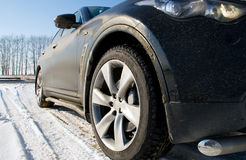 The car on snow Royalty Free Stock Photography