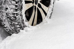 Car in the snow Royalty Free Stock Photos