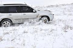 Car, snow, driving royalty free stock photos