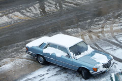 Car and Snow Royalty Free Stock Photography