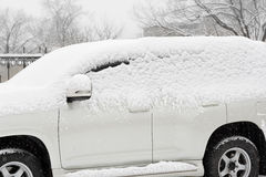 Car in the snow Stock Image