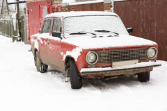 Car and snow Royalty Free Stock Photos