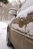 Car in snow Stock Image