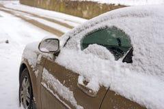 Car in snow Royalty Free Stock Photos