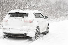 Car in the snow Royalty Free Stock Photo