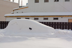 Car in Snowbank Royalty Free Stock Photo