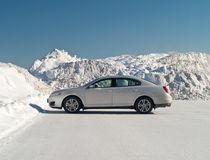 Car and snowbank Stock Photo