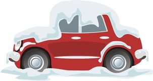 car snowdrift Royalty Free Stock Image