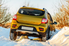 Car in snowdrift Stock Photos