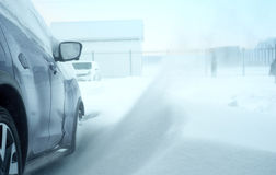 Car in a snowdrift snow Royalty Free Stock Image