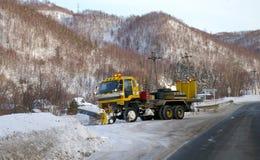 Car-snowplow. Royalty Free Stock Photo