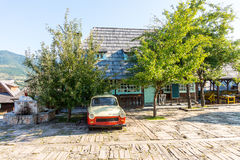 Car socialist era In Drvengrad Kusturica, Serbia Royalty Free Stock Photos
