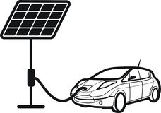 Car solar,car charger Stock Images