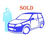 The car is sold Royalty Free Stock Image
