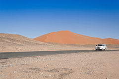Car on Sossusvlei Stock Image