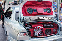 Car sound system Royalty Free Stock Photo