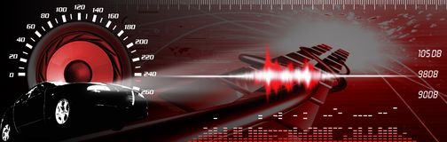 Car sound systems banner Royalty Free Stock Images