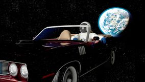 The car in space Stock Photos