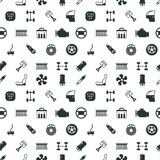 Car spare parts vector seamless pattern Stock Photos