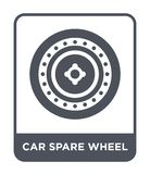 car spare wheel icon in trendy design style. car spare wheel icon isolated on white background. car spare wheel vector icon simple royalty free illustration