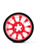 Car spare wheel. Isolated on white background Stock Photos