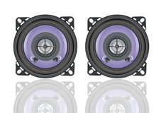 Car speakers Stock Images