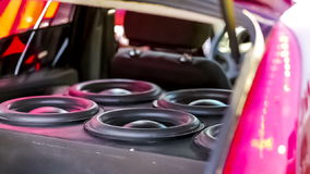 Car Speakers Diffusers Moving With Sound stock video footage