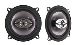 Car speakers isolated stock photos