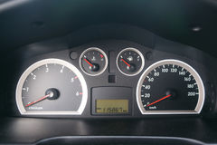 Car Speed Dashboard with LED display. Panel Stock Photography