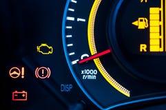 Car speed meter closeup royalty free stock photo
