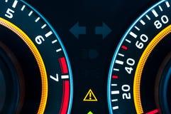 Car speed meter closeup Royalty Free Stock Images