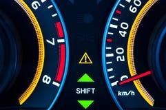 Car speed meter closeup Royalty Free Stock Photography
