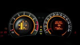 Car speed meter closeup Royalty Free Stock Photos