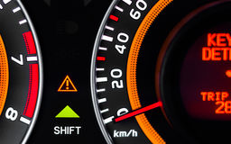 Car speed meter closeup Royalty Free Stock Image