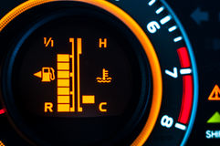 Car speed meter closeup Royalty Free Stock Photo