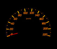 Car speed meter Royalty Free Stock Photography