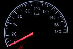 Car speed meter Stock Image