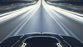 Car speed night drive Royalty Free Stock Images