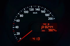 Car speed speedometer Royalty Free Stock Images