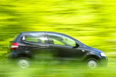 Car speeding Royalty Free Stock Photography