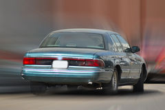 Car with speeding stock image