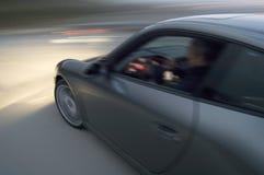 Car Speeding, Blurred Motion Stock Photo