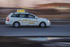 Car speeding. On the road at high speed Stock Photography