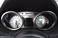 Car speedo detail. Fast car Royalty Free Stock Images