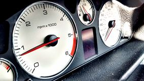 Car speedo. Meter and dashboard instruments Stock Images