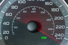 Car speedometer. With blurred needle Royalty Free Stock Photos