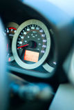 Car speedometer. Car instruments speedometer in dashboard Stock Images