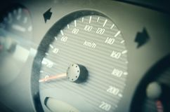 Car speedometer. With an arrow at zero Royalty Free Stock Photography